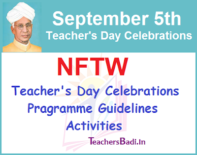 NFTW,Teacher's Day, Guidelines