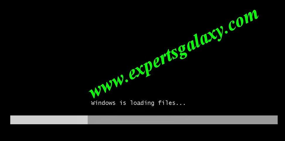 Windows 7 Loading Files Screen