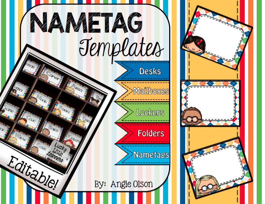 https://www.teacherspayteachers.com/Product/Editable-Nametag-Templates-1625505