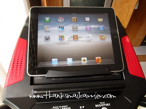 elliptical machine iPad holder
