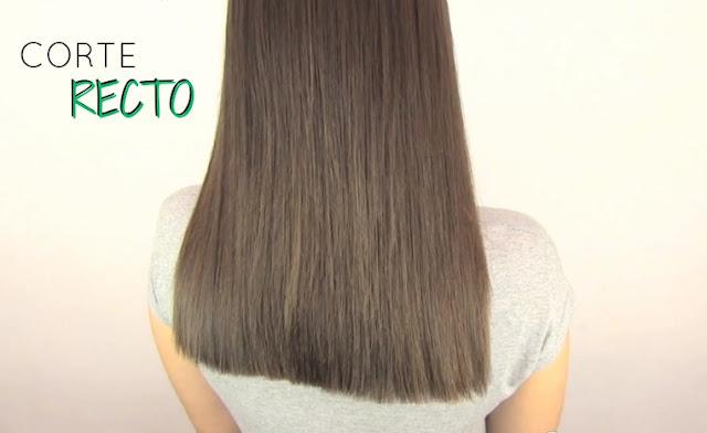 Tecnicas de corte de cabello recto