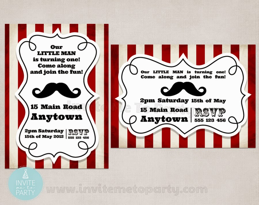 Invite Me To Party: Mustache Bash Party / Little Man Party