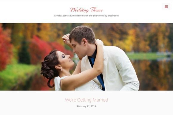 elegant WordPress theme to build a beautiful wedding website