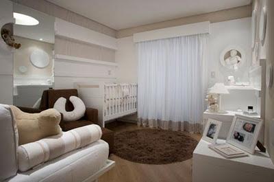 Decoraci n de interiores cuarto para beb en color neutro for Paredes focales