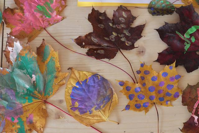 peindre feuille d'automne