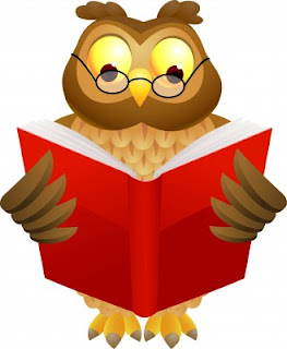 Picture of wise owl reading
