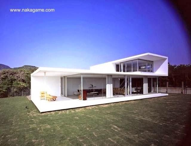 Perspectiva de residencia contemporánea japonesa vanguardista Minimalista