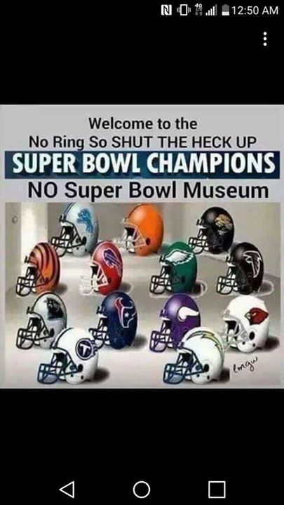 #nfl #norings #superbowl #nflhaters.- Welcome to the no ring so shut the heck up super bowl champions. no super bowl museum