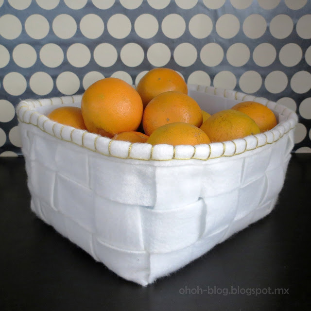 DIY recycled felt basket