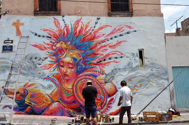 Street Art By Kenta Torii In Queretaro , Mexico For The Board Dripper Festival. 3