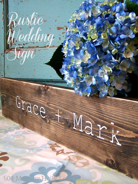 Rustic weddings signs are great gifts or accessories to accent your wedding decor.