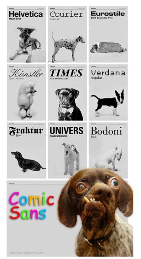 Si los tipos de letra fueran perros