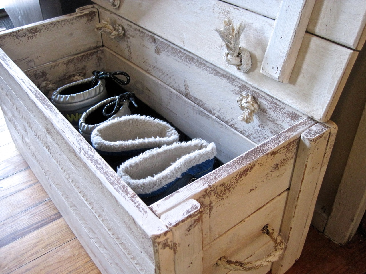 Coat Rack And Boot Box Make Your Own The Project Lady