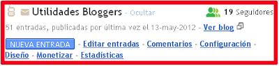 Antigua interfaz de Blogger