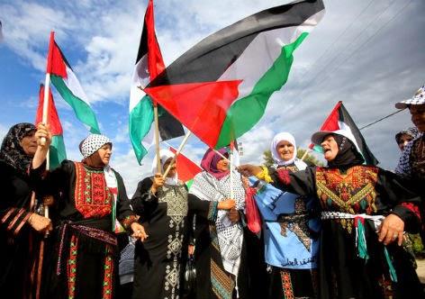 Palestinos se manifestam no dia da Al Nakba