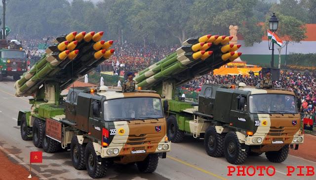 Smerch 300 MM Multi Rocket Launcher @ 65th Republic Day Parade