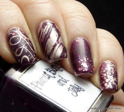 Whimsical Ideas by Pam Peanut Butter and Jelly stamped with Essie PennyTalk