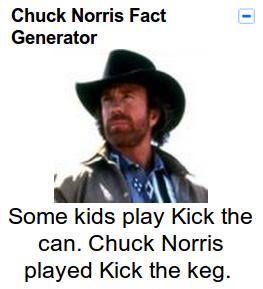Gmail Chuck Norris Fact Gadget