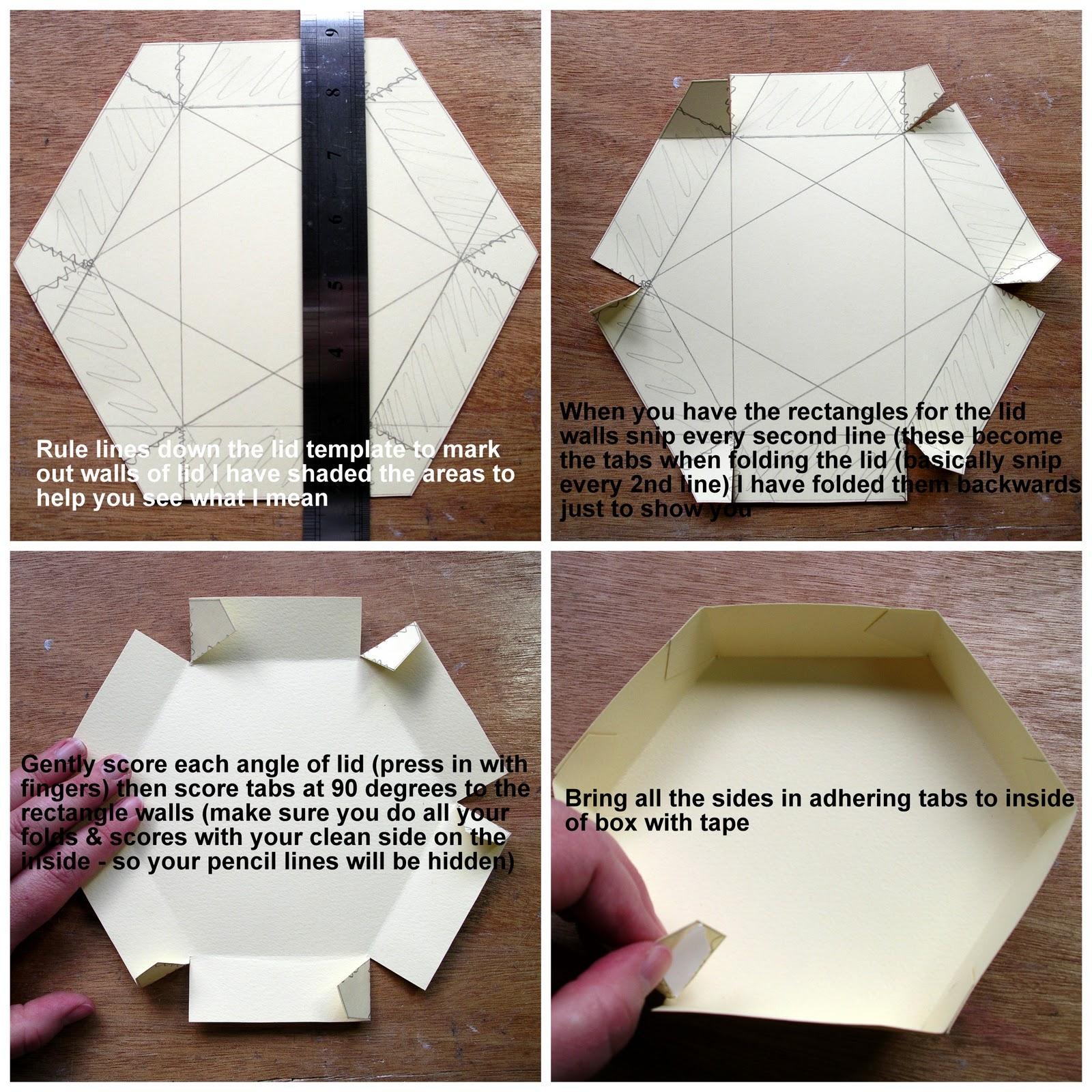 Hexagonal Origami Box With Lid Instructions Tomoko Fuse Hexagon