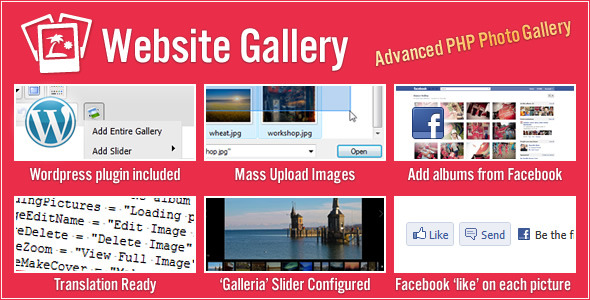 CodeCanyon - Website Gallery (with Slider & Facebook Support)