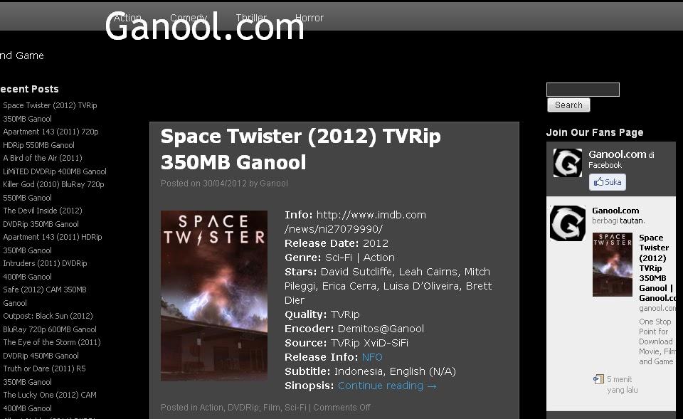 Ganool -Tempat Download Film Gratis
