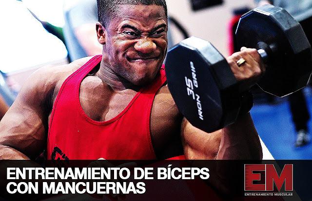 Entrenamiento Bíceps con mancuernas