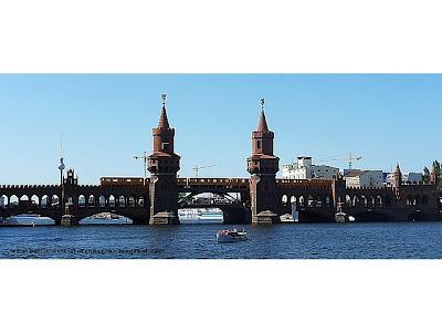 oberbaumbrücke, berlin, ubahn, spree, schiff