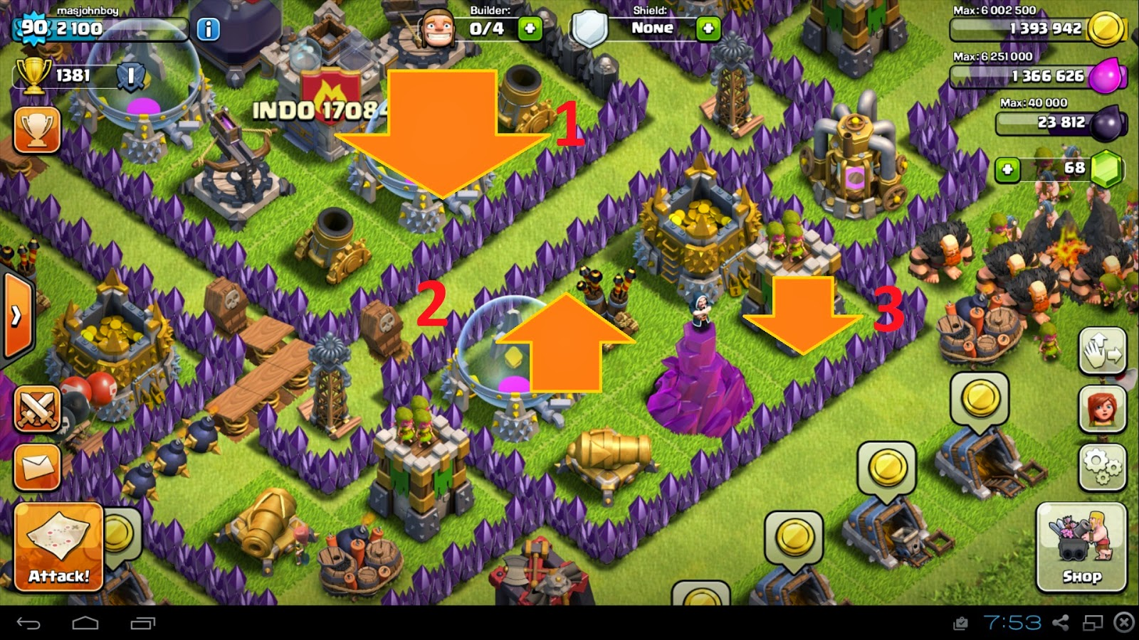 Desain Town Hall 9 clash of clans