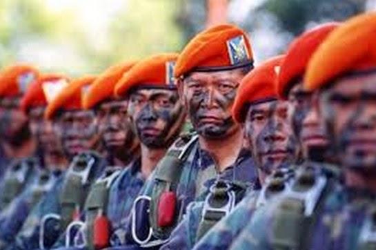 Arti Baret Angkatan Bersenjata Yang Miring Ke Kiri dan Ke Kanan