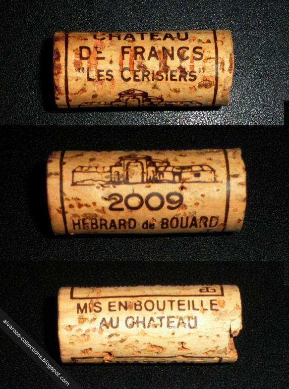 Wine cork: Chateau De Francs 'Les Cerisiers', Hebrard de Bouard, 2009