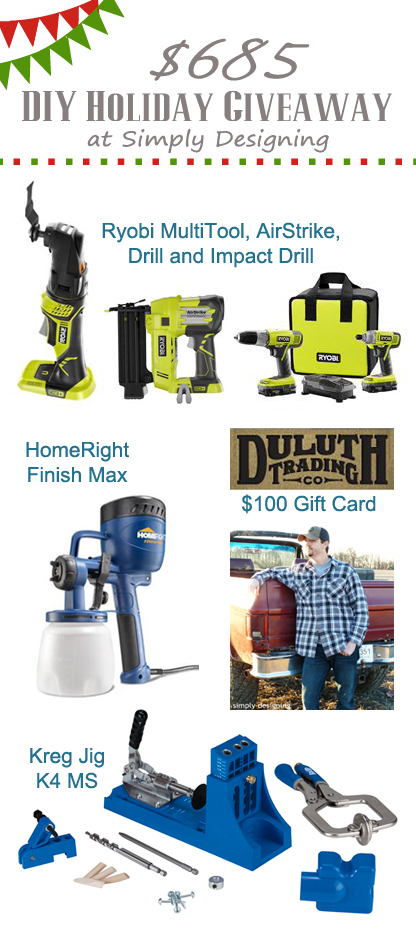 $685 Holiday Giveaway for the DIY-er | #giveaway #diy #christmas #holiday
