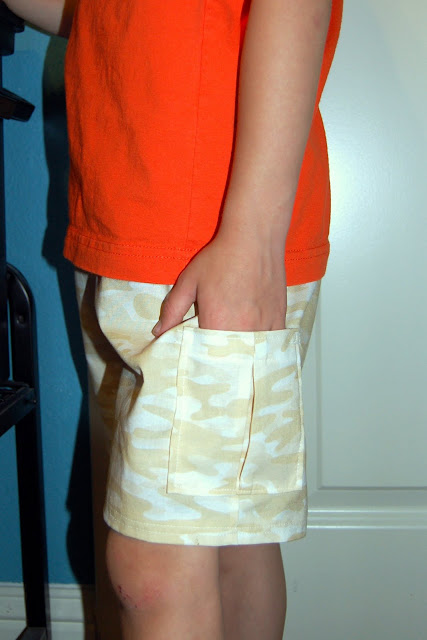 Adding Cargo Pockets to Shorts