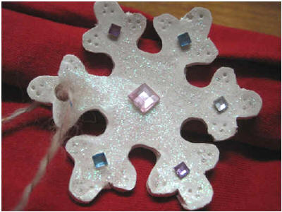 Sculpey snowflake ornaments