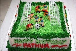 Gambar Kue Ulang Tahun Anak Laki-Laki Sepak Bola