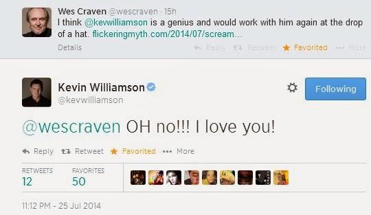 Kevin Williamson responde a Wes Craven en Twitter