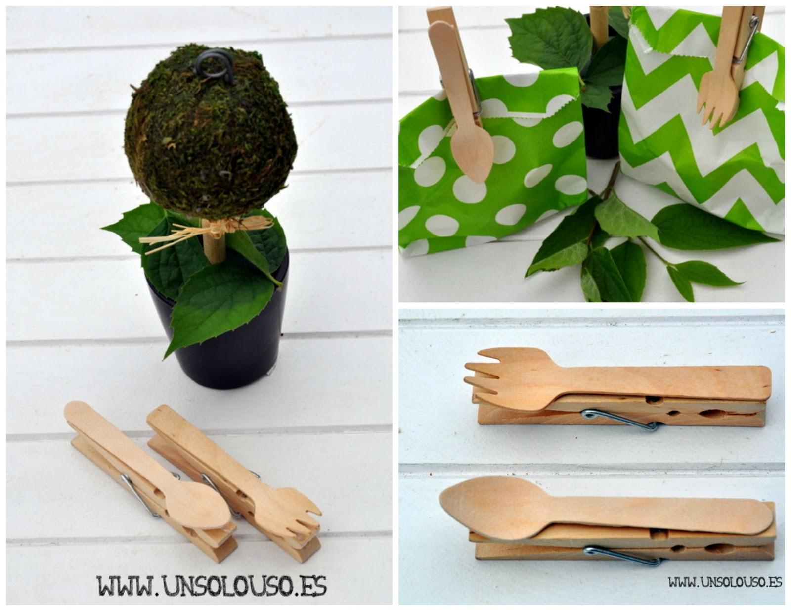 DIY: PInzas de madera originales