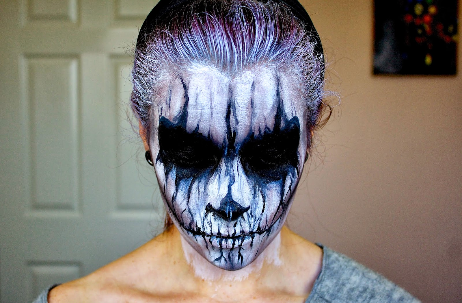demon face paint halloween the image. Black Bedroom Furniture Sets. Home Design Ideas