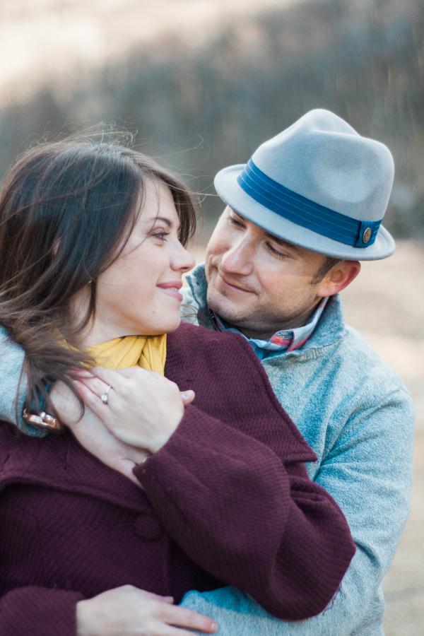 Katie + Dom's Winter Engagement Photo Adventure by Boone Wedding Photographer Wayfaring Wanderer