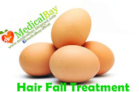 Hair loss egg treatment, egg hair fall loss remedy and treatment