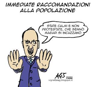 Alfano, terrorismo, satira vignetta
