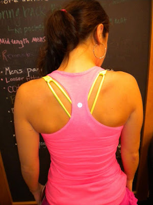 lululemon wild lime free to be bra under flash cool racerback tank