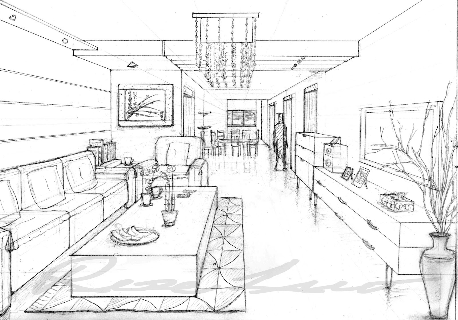 Rose rong luo 39 s production blog 1 point perspective and for Exterior 1 point perspective