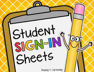 Student Sign-In Sheets, Student Sign In Sheets, Classroom Sign-In, Classroom Sign In, Student Sign-In, Student Sign In