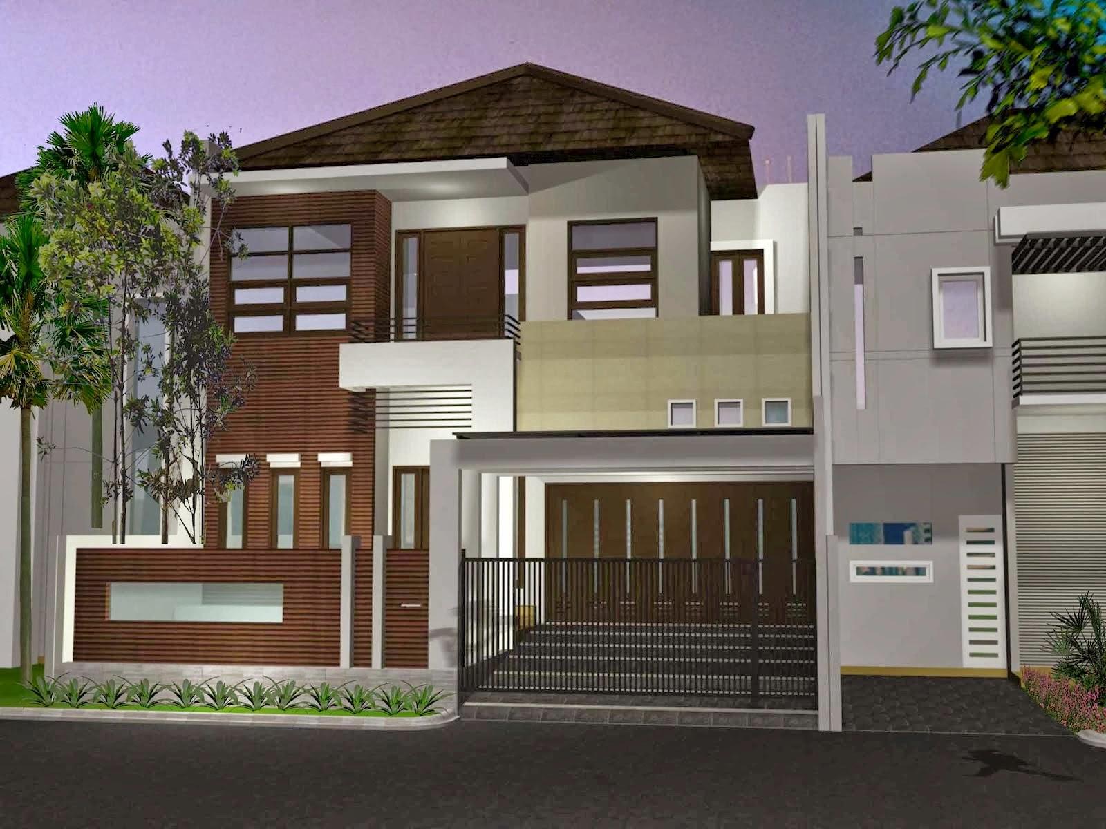 Desain Rumah Minimalis Modern 2 Lantai Sangat Anggun