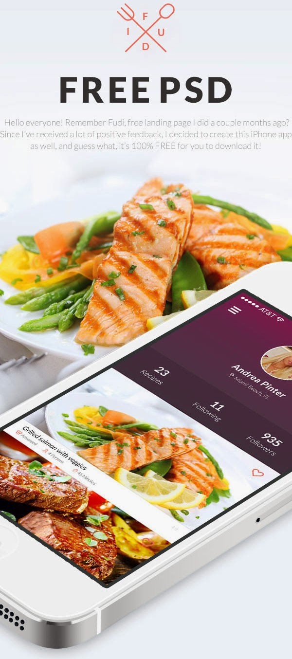 Flat Mobile App UI PSD