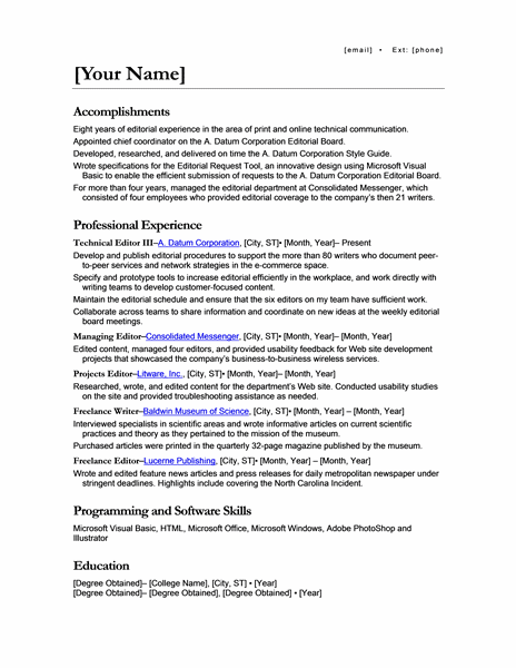 Microsoft Office 365 sample resume templates  Resume for