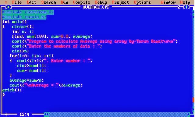 C Programming Calculate Average Using Arrays