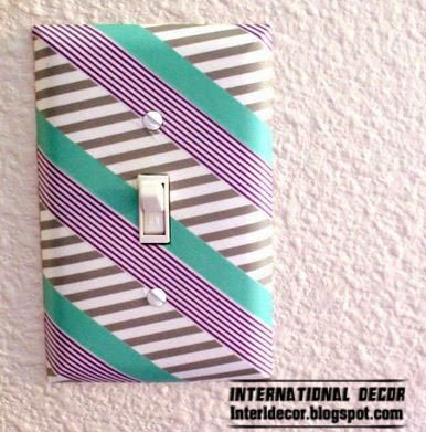 light switch,Washi Tape crafts, ideas,projects for interior design
