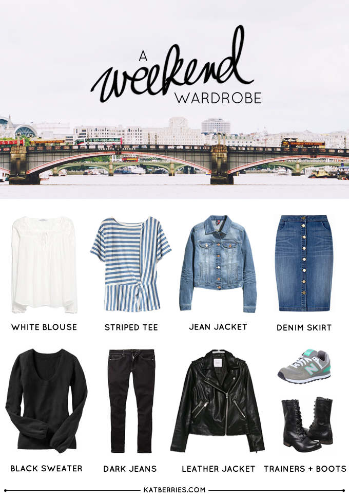 capsule wardrobe for the weekend
