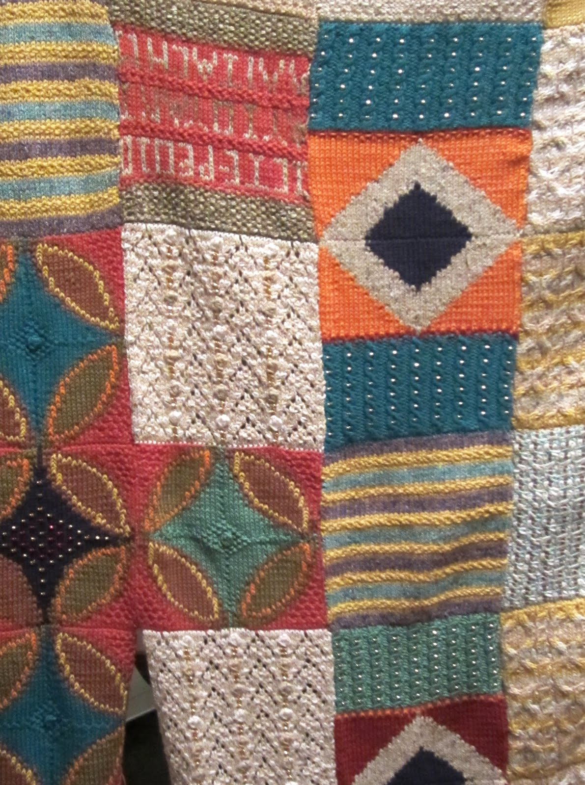 Knitting Patchwork Quilt Patterns : Knitted patchwork quilt images
